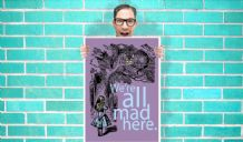 Alice in Wonderland - We're all mad Here - Wall Art Print Poster   - Kids Children Bedroom Geekery